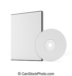 Blank DVD case and disc  isolated on a white background