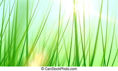 Grass Background 02 (30fps) - Artificial and stylized blades...