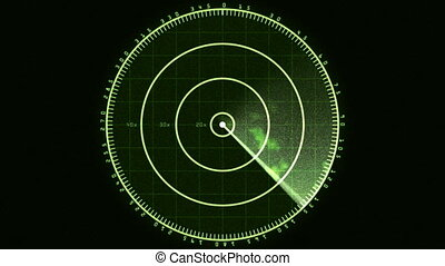 Radar Screen Display 01 (24fps) - Loop of a radar screen...