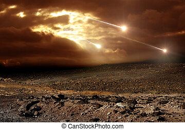 meteory, niebo