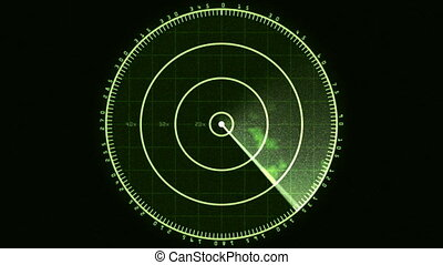 Radar Screen Display 01 30fps - Loop of a radar screen...