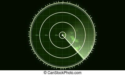 Radar Screen Display 02 (30fps) - Loop of a radar screen...