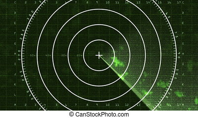 Radar Screen Display 03 (24fps) - Loop of a radar screen...
