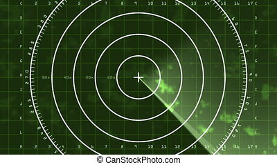 Radar Screen Display 04 (24fps) - Loop of a radar screen...
