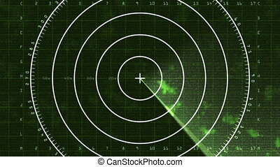Radar Screen Display 03 (30fps) - Loop of a radar screen...