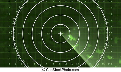 Radar Screen Display 04 (25fps) - Loop of a radar screen...