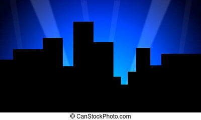 Skyline 01 30fps - A stylized and cartoonish city backdrop...