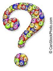 ビンゴ, ボール, 質問, 印
