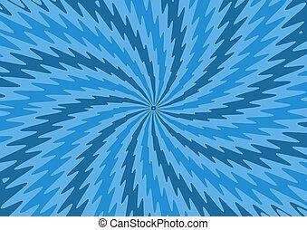 Blue Zigzag starburst