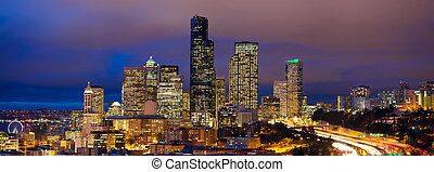 Seattle evening panorama