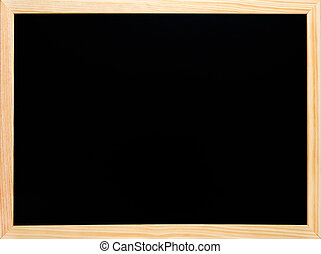 Blackboard or chalkboard rectangular wooden black empty -...