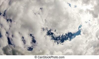 cloudy sky. timelapse.