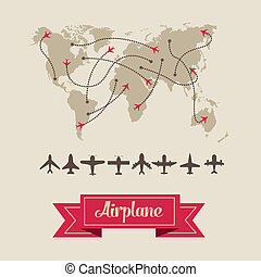 Airplane icons - Illustration of airplane icons. flight...