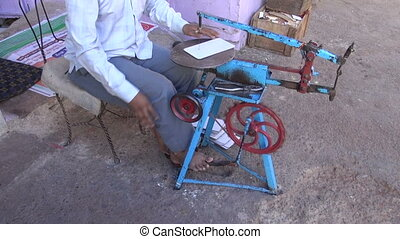 craftsman working in India city - craftsman working with...