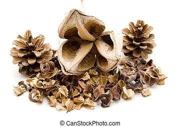 Potpourri with pine plug