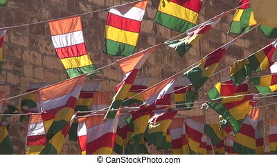 colorful flags and wind in Jodphur