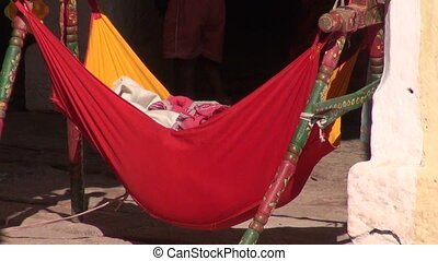 baby hammock form cradle,India - baby hammock form colorful...