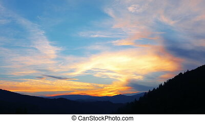 sunset - mountain landscape sunset