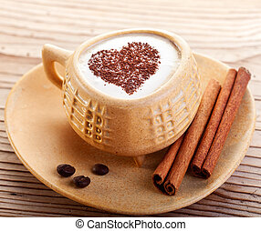 A cup of coffee with love