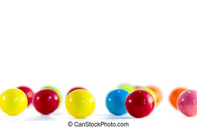 Bubble Gum Pieces - Bubble gum pieces on white background