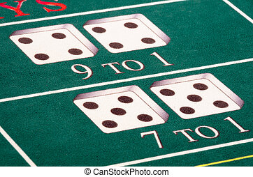 Craps Table - The odds are against you at the craps table!