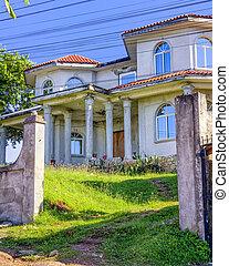 colonial, casa, Roatan