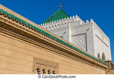 Mausoleum of Mohammed V in Rabat - Close view of Mausoleum...