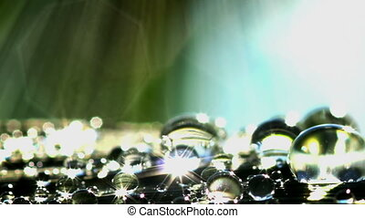 Water Droplets - Shiny water droplets closeup