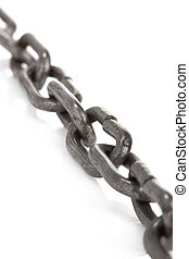 metal chain on white - metal chain isolated on white...