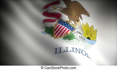 Flag of Illinois seamless