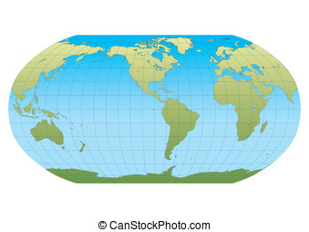 New Robinson Americas - Map of the world in Robinson...