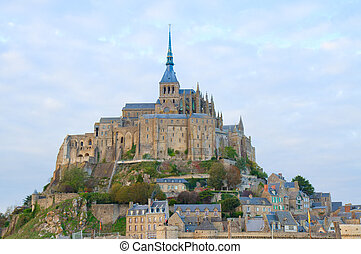 Abbey of Mont Saint Michel, - Abbey of Mont Saint Michel at...
