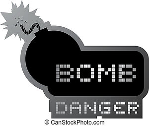 Bomb danger - Creative design of bomb danger