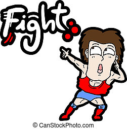 Fight cartoon