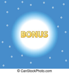 Abstract bonus icon - Unique plate a bonus on a blue...