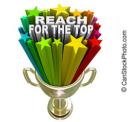 Reach for the Top Gold Trophy Motivation Competition - Reach...