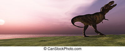 T-Rex at Sunrise