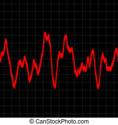 Heart Rate Monitor - Illustration of the electrical activity...