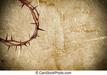 Crown of thorns - Crown of thorns on grungy background...