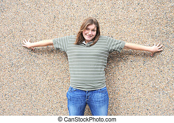 Tomboy - Female tomboy posing outdoors
