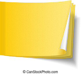 Blank yellow sticky paper notes