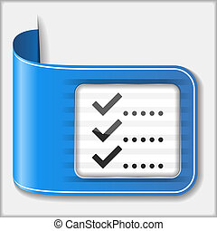 Check List Icon - Abstract icon of a check list, vector...