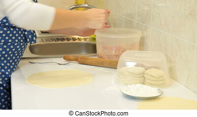 Food Preparation - Chebureki - Chebureki (popular meal of...