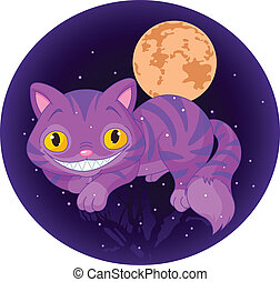 Magic cat - Magic Cheshire Cat levitating in the air