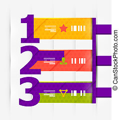 Numbered banners   infographics. EPS10 vector