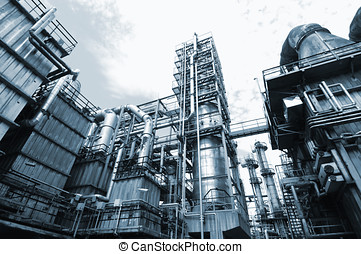 oil refinery, overall view - oil and gas refinery, overall...