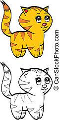 Cute cartoon baby tiger