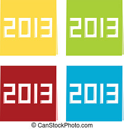 The year of 2013 illustration
