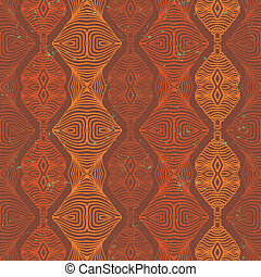 vector ethnic seamless pattern - Vector seamless linear...