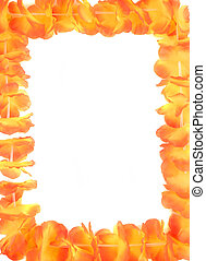 hawaiian lei frame - beautiful orange floral hawaiian lei...
